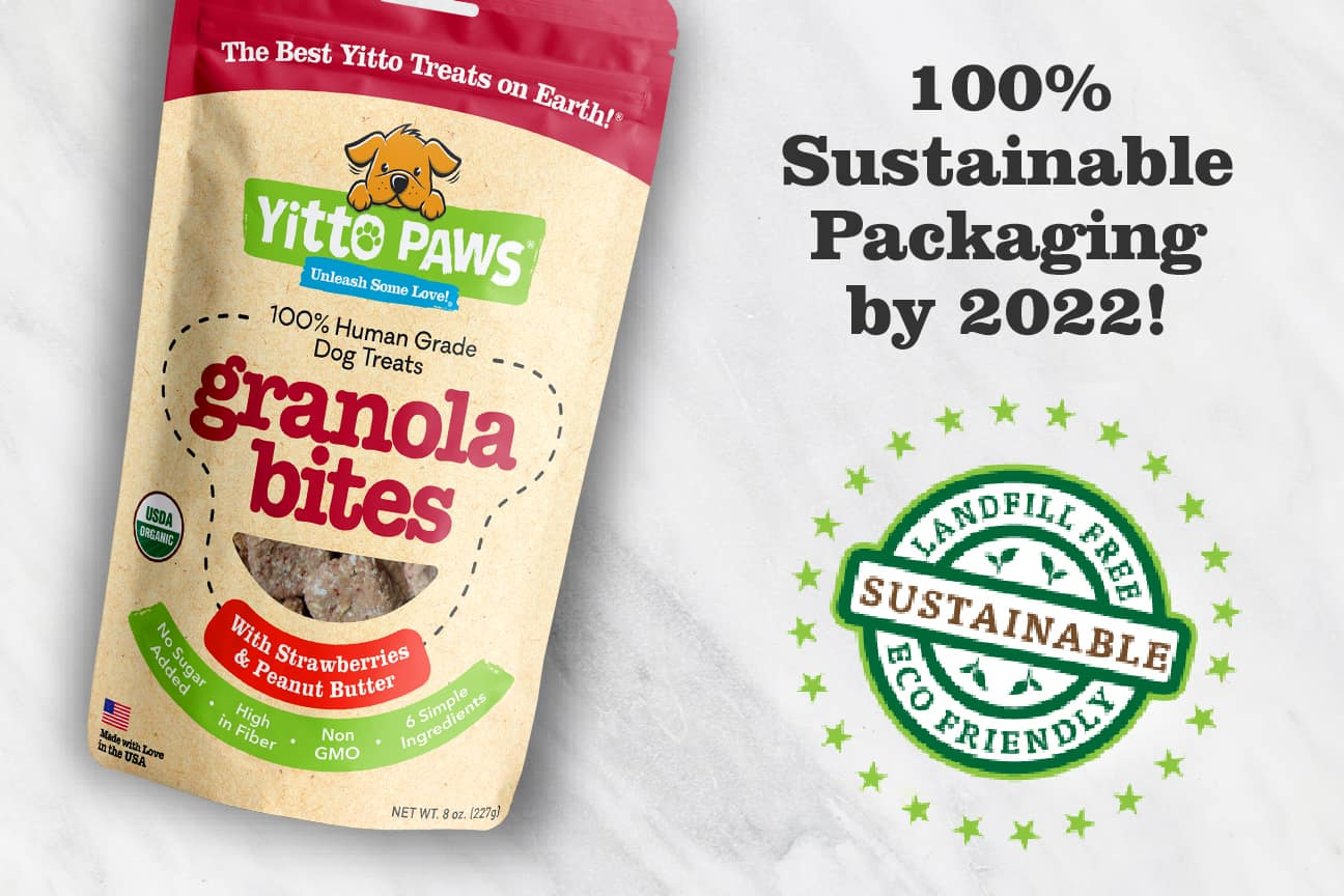 100% sustainable packaging is Yitto Paws goal by 2022